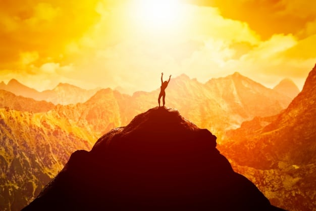 Person Successful on a Mountaintop